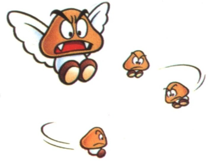 Paragoomba and Micro Goombas